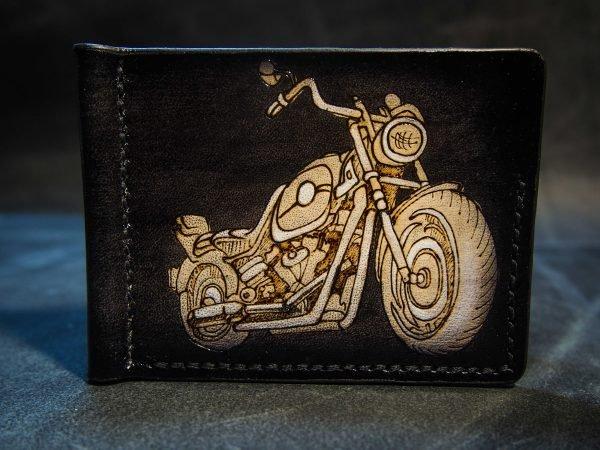 зажим для купюр с мотоциклом фото