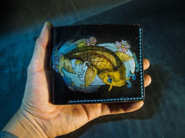 Кожаный кошелек Карп 8