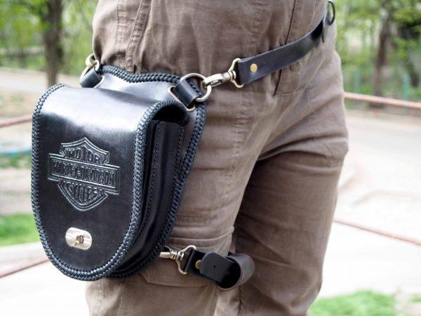 кожаная сумка Harley Davidson 1