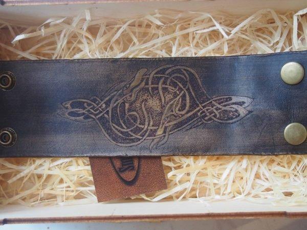 Кожаный браслет Кельтский орнамент