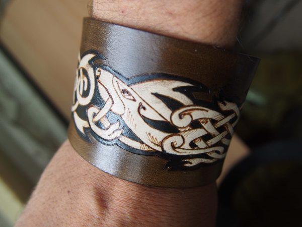 Кожаный браслет Узор кельтский