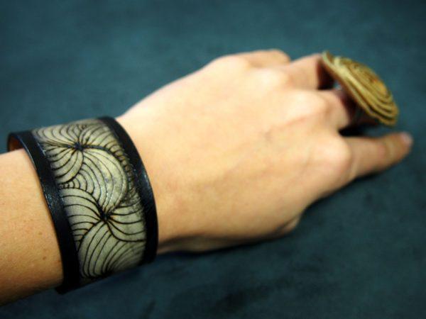 Кожаный браслет Лабиринт 1