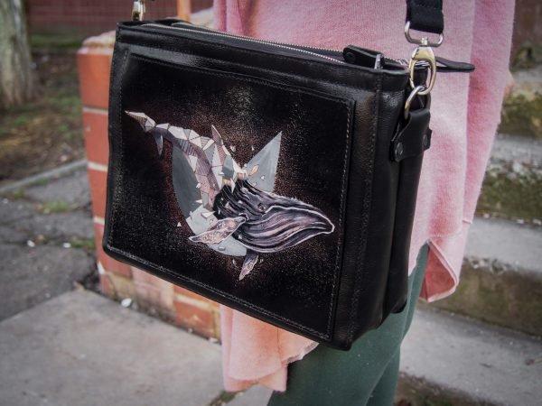 женская кожаная сумка через плечо фото 8