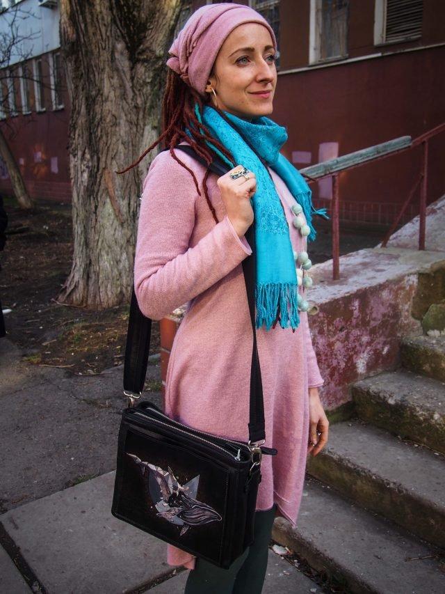 женская кожаная сумка через плечо фото 6