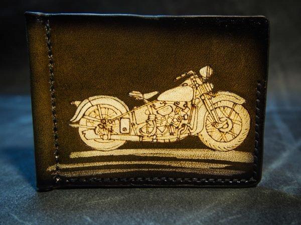 зажим для купюр с мотоциклом изображение