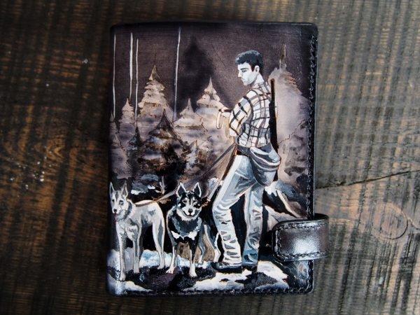 мужское портмоне с рисунком охота фото