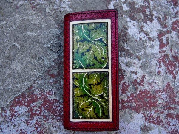 женский красный кошелек фото 1