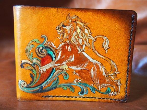 кошелек геральдический лев фото