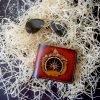 кожаный бумажник компас и горы фото6