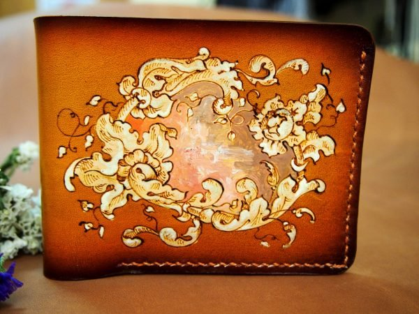кожаный кошелек барокко фото