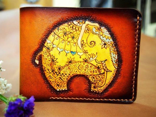 кожаный кошелек слоник фото
