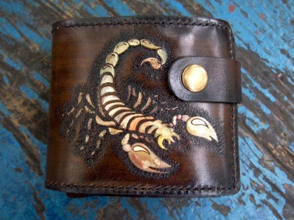 кожаный бумажник скорпион фото 6