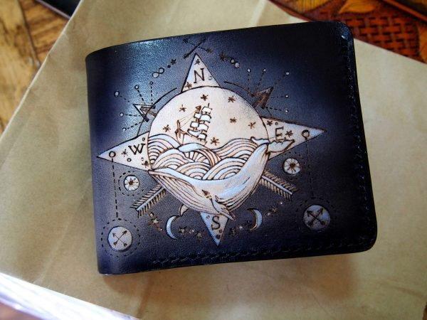 кожаный бумажник кит фото