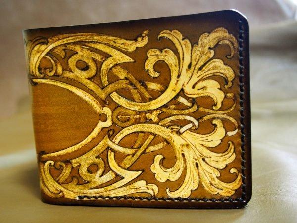кожаный кошелек орнамент фото