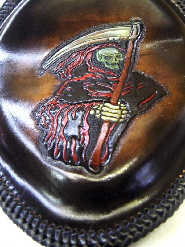 кастомное кожаное сиденье на мотоцикл фото 4