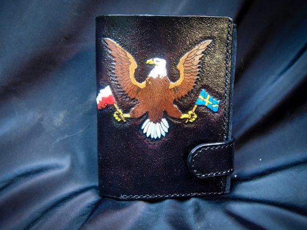 кожаное портмоне орел фото