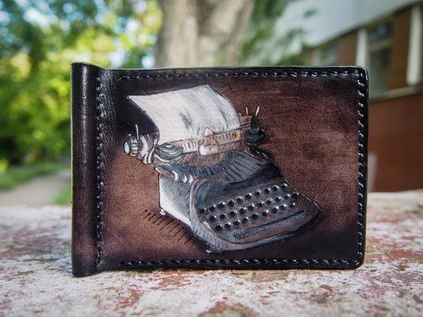 кожаный зажим печатная машинка фото