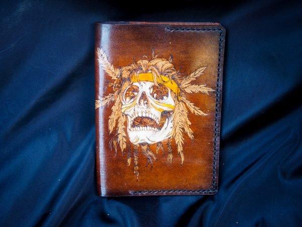 кожаная обложка на паспорт индеец фото