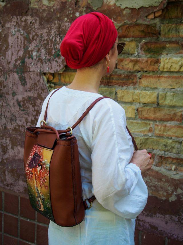 Кожаная сумка-рюкзак Сакура фото 10
