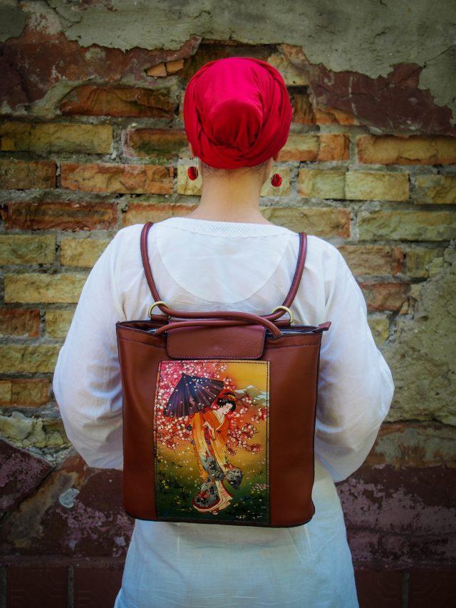 Кожаная сумка-рюкзак Сакура фото 8