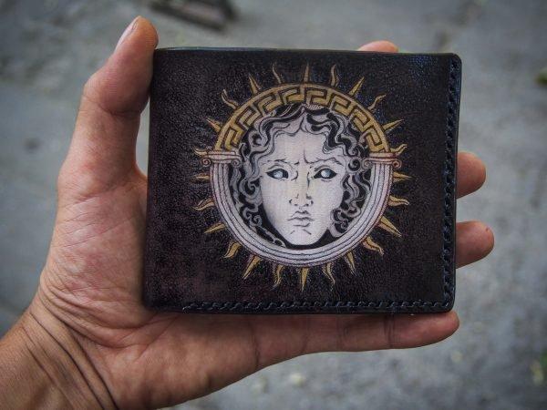 кожаный кошелек версаче фото