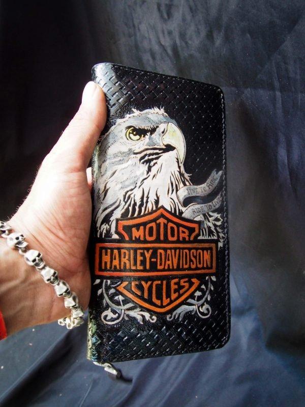 кошелек на молнии harley davidson фото 6