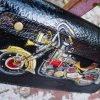 кожаный кошелек на молнии стимпанк фото 8