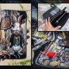кожаный кошелек на молнии стимпанк фото 5