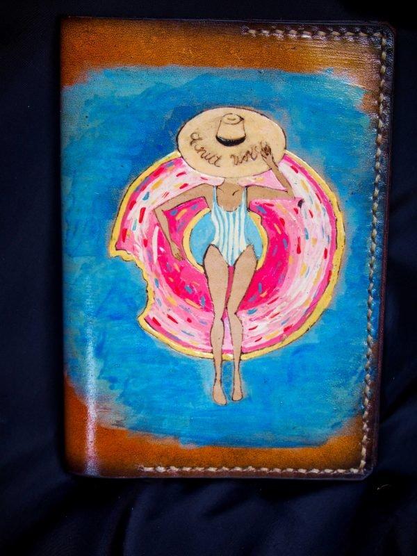 обложка для паспорта автобус пончик