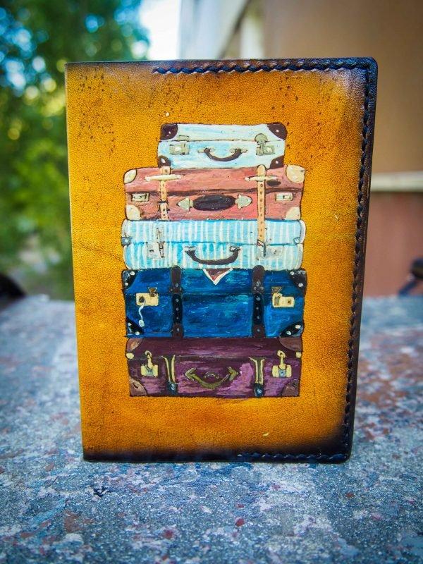 обложка для паспорта чемоданы