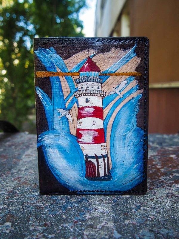 кожаная обложка на паспорт маяк фото 6