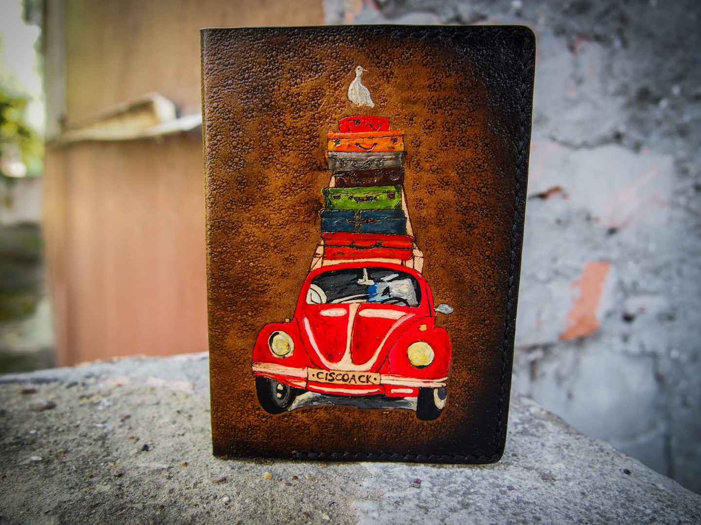 кожаная обложка на паспорт автотуризм фото