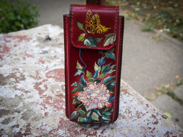 женский футляр для очков хризантемы фото 1