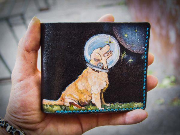 кожаный кошелек лабрадор фото 1