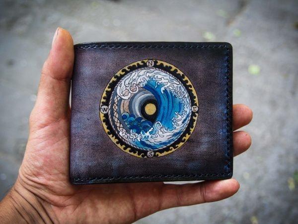 кожаный кошелек море фото 1