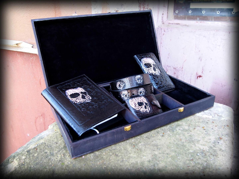 подарочный набор из кожаных изделий фото 8