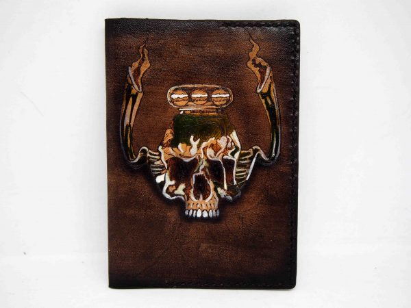 обложка на паспорт череп фото