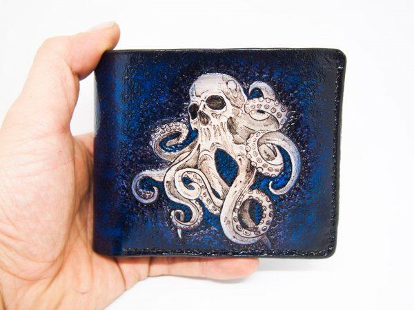 синий кошелек с осьминогом фото 9