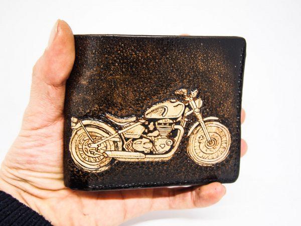 мотоцикл на кожаном кошельке фото 8