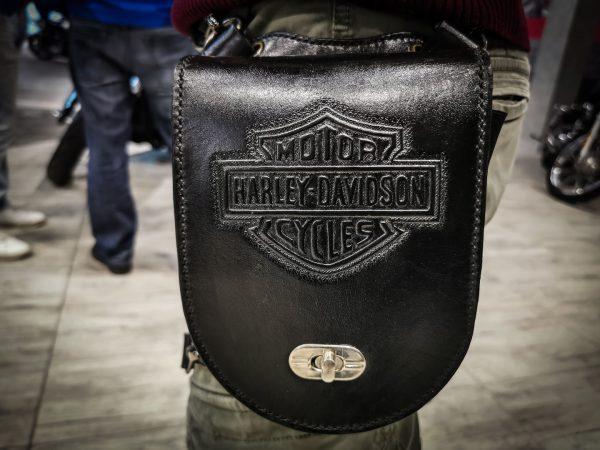 кожаная поясная сумка harley davidson мотоциклиста фото 1