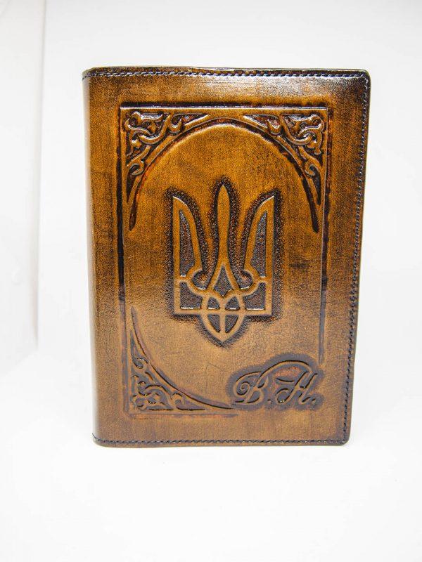 кожаный ежедневник а5 формата герб украины фото 4