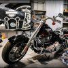 кожаный боковой кофр на мотоцикл Harley Davidson 22
