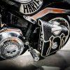 кожаный боковой кофр на мотоцикл Harley Davidson 7