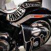 кожаный боковой кофр на мотоцикл Harley Davidson 6