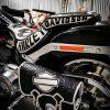 кожаный боковой кофр на мотоцикл Harley Davidson 20