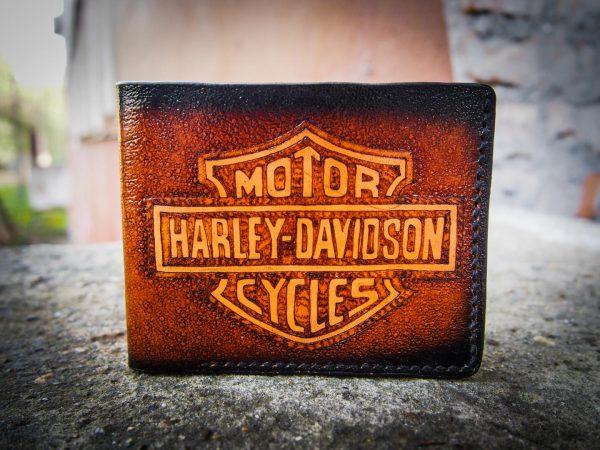 кожаный кошелек harley davidson фото 5