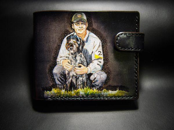 кожаный кошелек на заказ с портретом фото 8