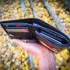 кожаный компактный кошелек тройного сложения с самолетом фото 15