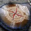 кожаный брелок с компасом фото