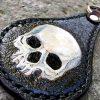 кожаный брелок с черепом купить фото 5